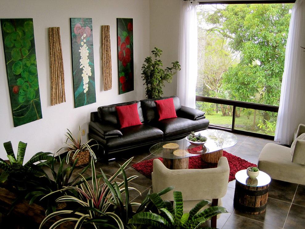 Цветы в дизайне частного дома