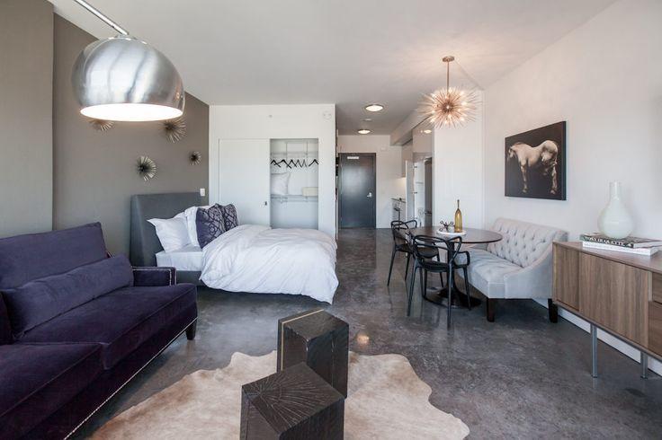 Декор квартиры-студи в стиле хай-тек