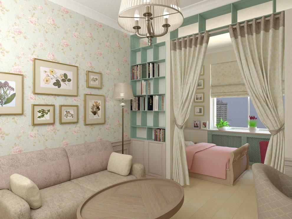 Дизайн современной гостиной с детской зоной