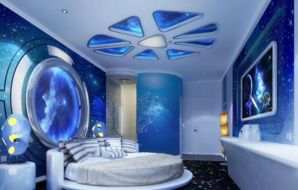 Дизайн детской в космическом стиле