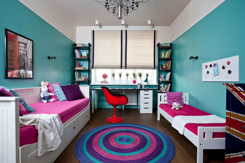 Детская комната для двоих в стиле фьюжн