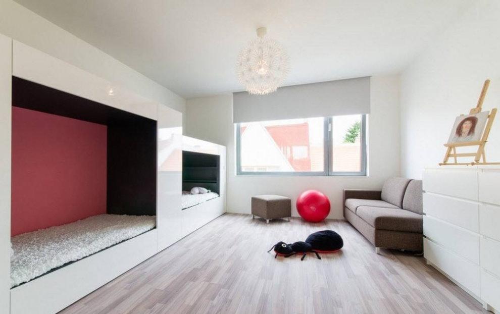 Современная детская комната в стиле минимализма