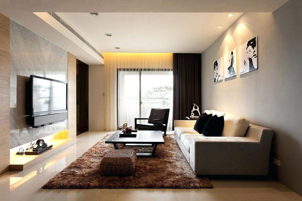 Современная гостиная в стиле модерна