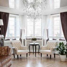 Плотные шторы из дорогой ткани