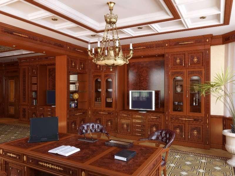 дизайн кабинета в английском стиле варианты