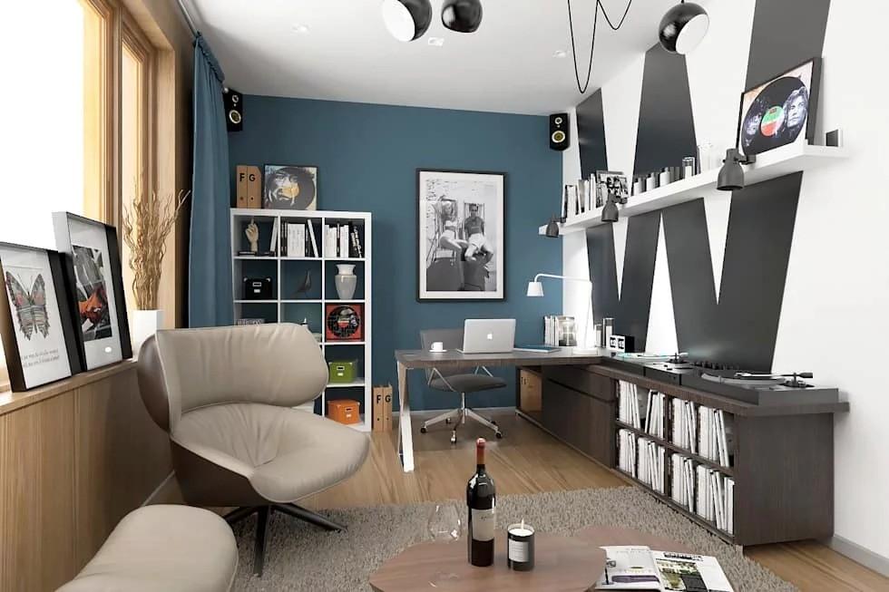 дизайн кабинета в скандинавском стиле