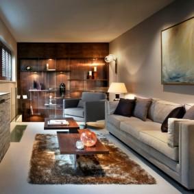 дизайн маленького зала интерьер
