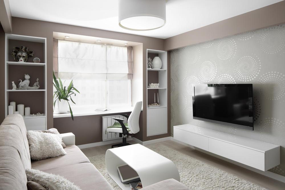 минималистичный дизайн зала