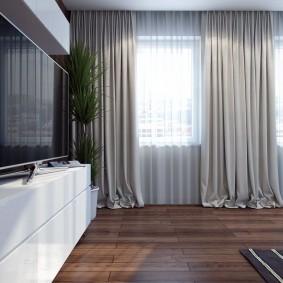 Ламинированный пол в гостиной комнате