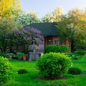 Дизайн сада в русском стиле