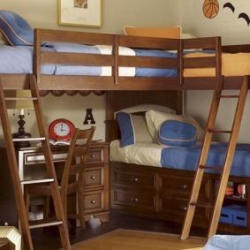 Двухъярусная кровать из качественного МДФ