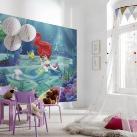 Детская мебель сиреневого цвета