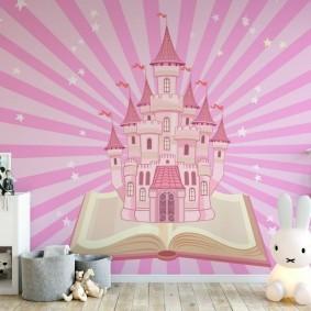 Сказочный замок в розовых тонах