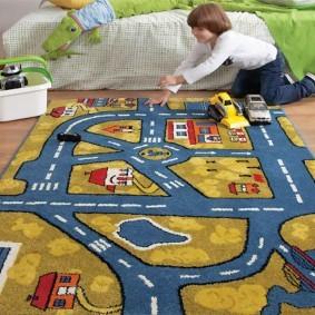 Игровой ковер в комнате мальчика