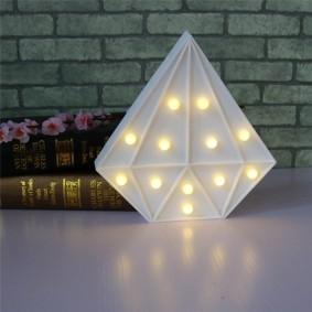Светодиодный ночник в форме пирамидки