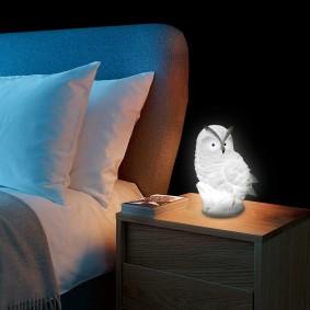 Стильной ночник в виде совы для комнаты подростка