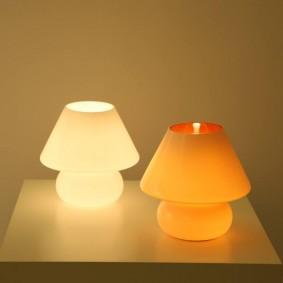 Разноцветные ночники со светодиодными лампами