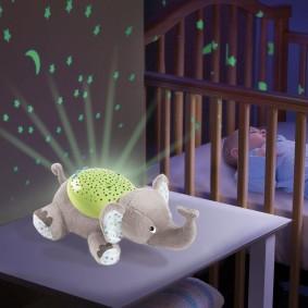 Ночник в виде мягкой игрушки для малыша
