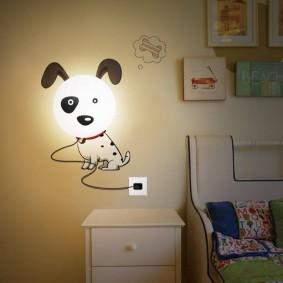 Настенный светильник с питанием от сети
