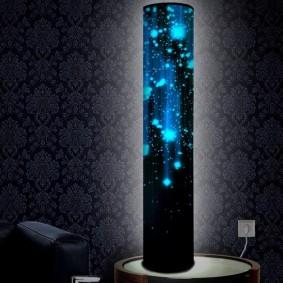 Вертикальный ночник падающие звезды