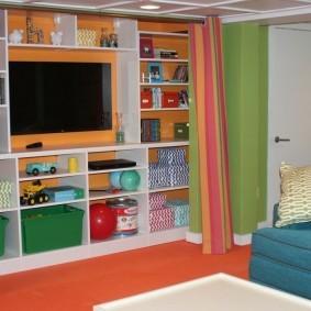 Место для телевизора в детской комнате