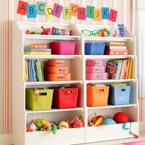 Хранеие игрушек в детской комнате