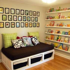 Детский диванчик с местом для хранения вещей