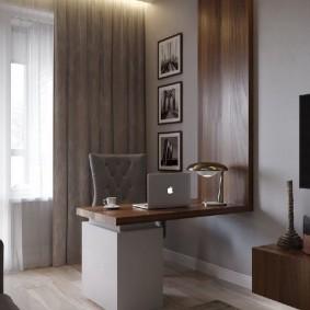 Небольшой столик в домашнем кабинете