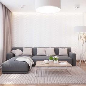 Гостиная комната 4 на 4 в стиле минимализма