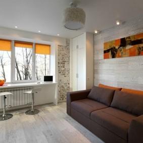 Рулонные шторы оранжевого цвета