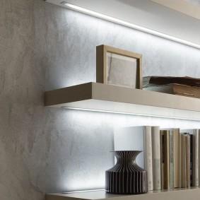 Декоративная подсветка настенных полок