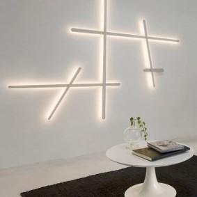 Линейные светильники в стиле хай тек