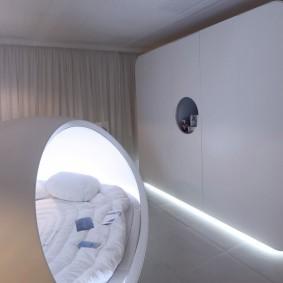 Шкаф для спальни в стиле хай тек