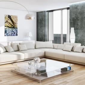 Большой диван угловой планировки