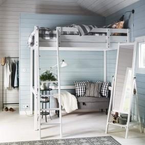 Интерьер детской с кроватью-чердаком