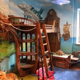 Деревянная мебель в сказочном стиле