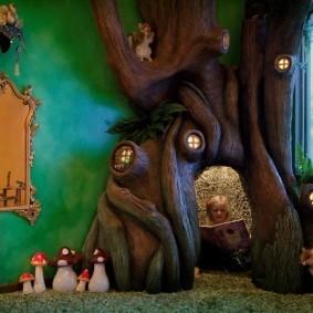 Игровой домик в виде сказочного дерева