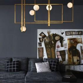 Латунный светильник оригинального дизайна