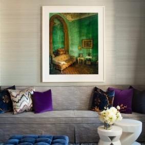Изображение интерьера на картине в зале