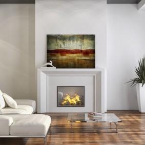 Картины в гостиной стиля минимализма