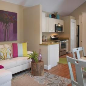 Интерьер однокомнатной квартиры в американском стиле