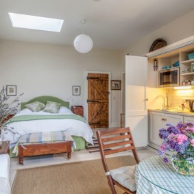 Квартира студия в деревенском стиле