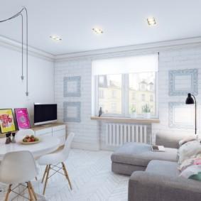 Светлая комната в скандинавском стиле