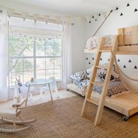 Двухъярусная кровать для девочек 8 и 12 лет
