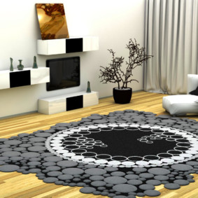 Минималистический стиль в интерьере зала