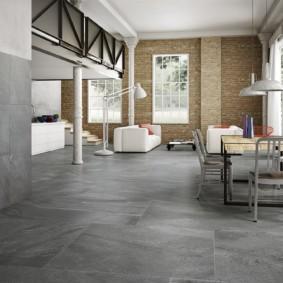 Серая поверхность бетонного пола
