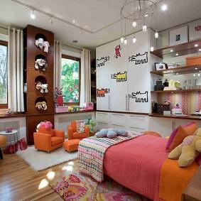 Освещение комнаты для девочки дошкольного возраста