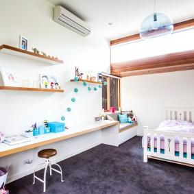 Естественное освещение детской в частном доме