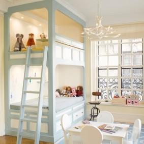 Белая мебель для маленьких деток
