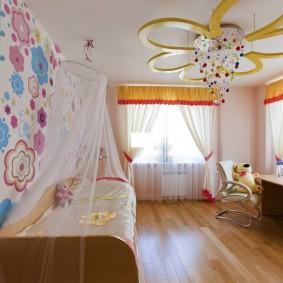 Тюлевые занавески в комнате девочки